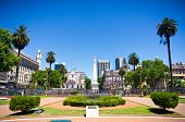 foto of obelisk  - Beuatiful view of Buenos Aires capital of Argentina - JPG