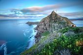 image of atlantic ocean beach  - Cape Point South Africa as time stands still  - JPG