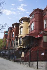 foto of brownstone  - New York City brownstones in Bedford - JPG