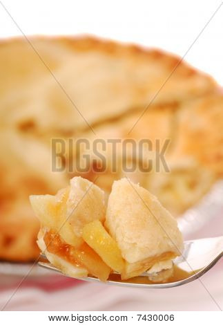 Piece of Apple Pie on a fork