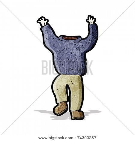 cartoon headless man