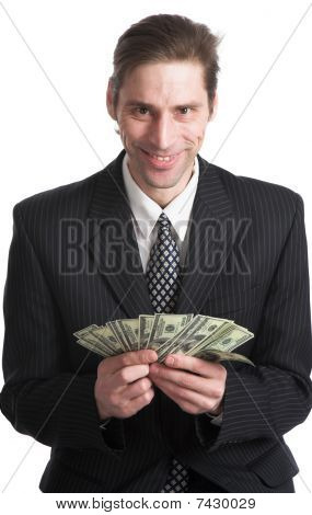 The Businessman And Dollars