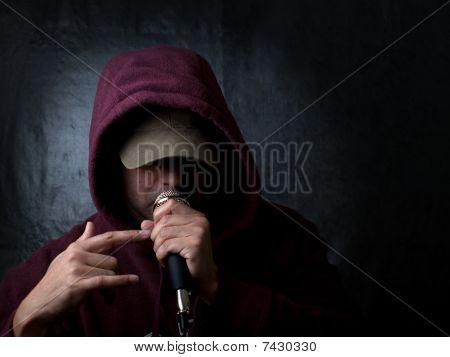 Stedelijke artist, rapper