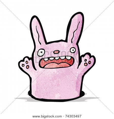 cartoon rabbit in hole