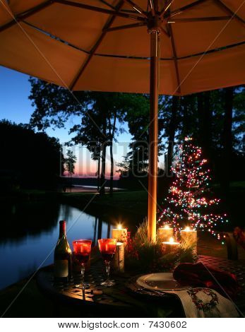 Romantic Candlelit Dinner By The Lake