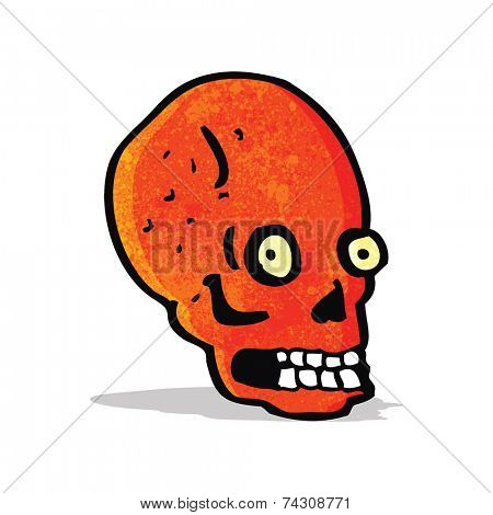 cartoon spooky staring skull
