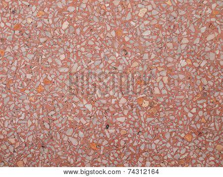Red Terrazzo Floor.