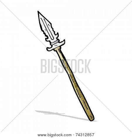 cartoon primitive spear