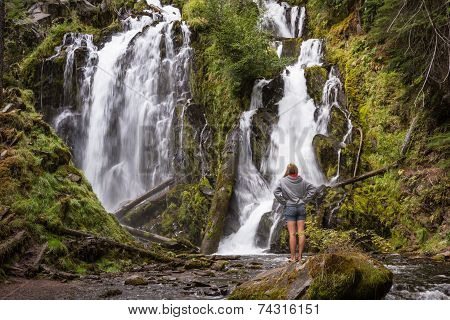 Beautiful Waterfall In Oregon