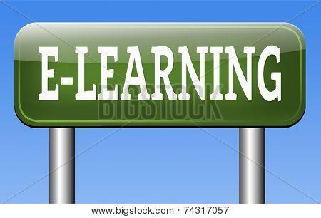 online education internet e-learning in open school or university virtual elearning