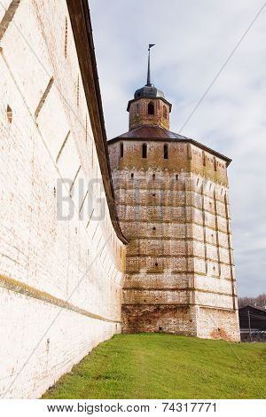 Wall Of The Kirillo-belozersky Monastery. Architectural Monument Of Russia.