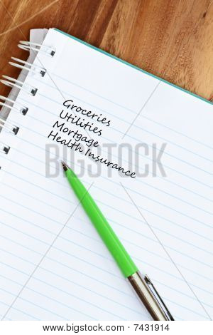 Budget Listing