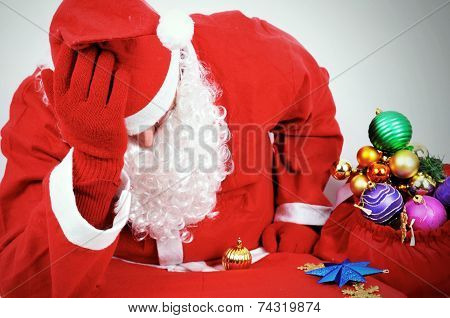 Thoughtful Santa Claus