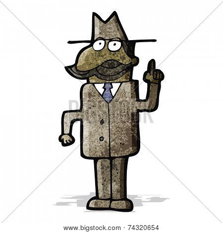 cartoon detective solving;case;