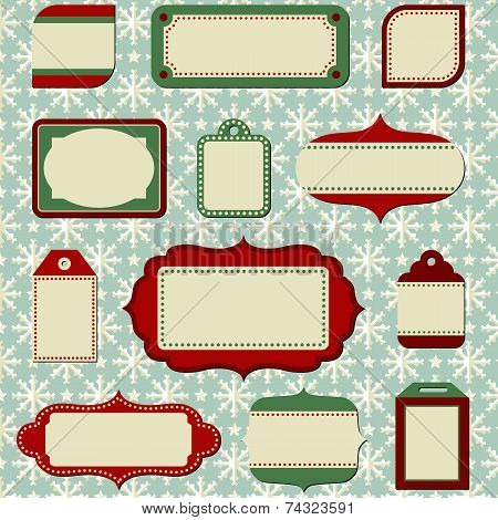 Retro Holiday Labels and Tags