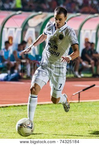 Sisaket Thailand-october 15: Carmelo Gonzalez Of Buriram Utd. In Action During Thai Premier League B