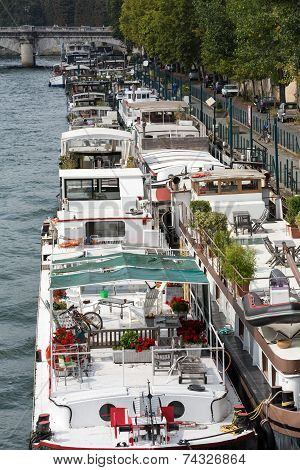 Cruise boat on the River Seine in Paris