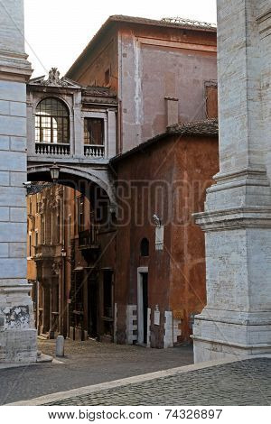 Narrow Streets Of Rome, Italy
