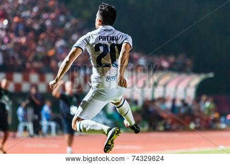 Sisaket Thailand-october-15: Javier Patino Of Buriram Utd. In Action During Thai Premier League Betw