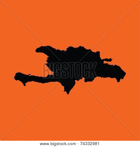 Illustration On An Orange Background Of Democratic Republic