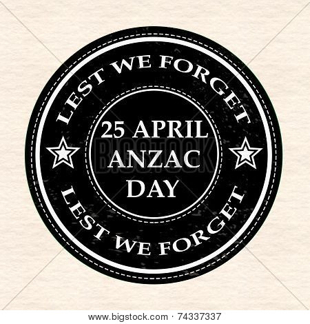 April Anzac Day Stamp