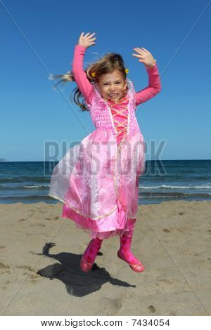 Princess jumping in the air