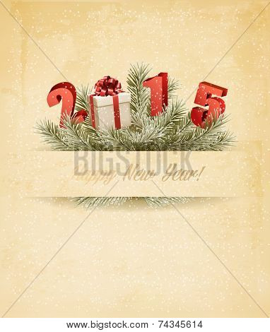 Happy new year 2015! New year design template. Vector