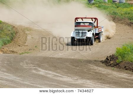 Lorry In Drift