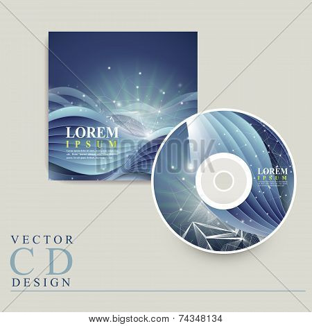 Abstract Technology Background For Cd Cover