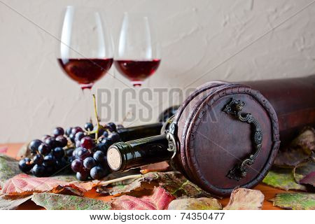 Bottle With Wine