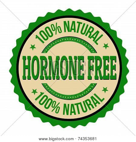 Hormone Free Label Or Stamp