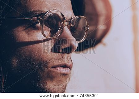 Handsome Man In Old Fashioned Glasses