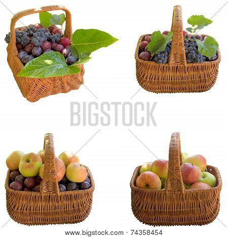 Baskets With Fruit.