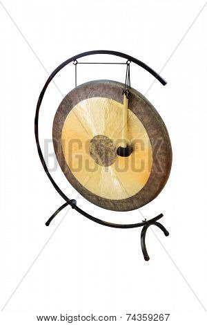 gong under the white background