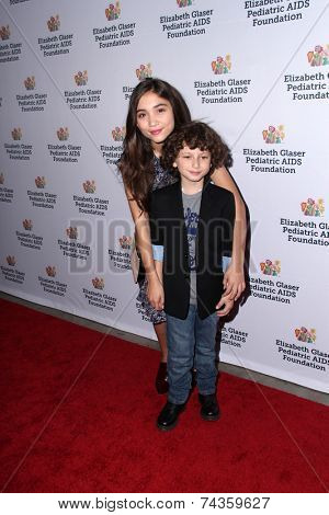 LOS ANGELES - OCT 19:  Rowan Blanchard, August Maturo at the 25th Annual