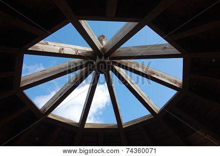 Sky Seen From Under The Gazebo