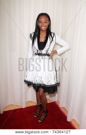 LOS ANGELES - OCT 20:  Sierra McClain at the Creativ PR Collections at Fashion Week at Mondrian on October 20, 2014 in West Hollywood, CA