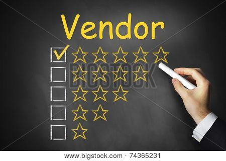 Hand Writing Vendor On Chalkboard Ranking