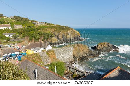 Cadgwith coast Cornwall England UK on the Lizard Peninsula between The Lizard and Coverack