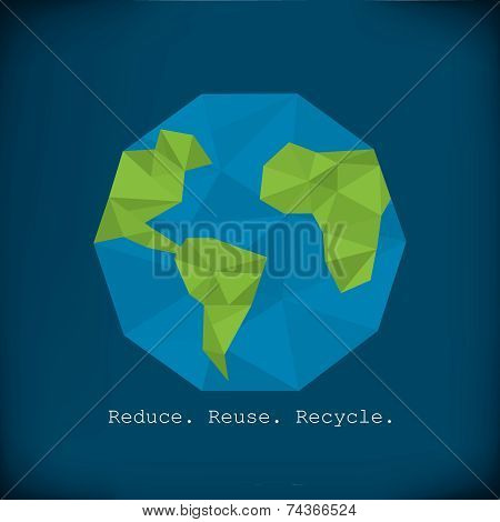 Recycling info graphics