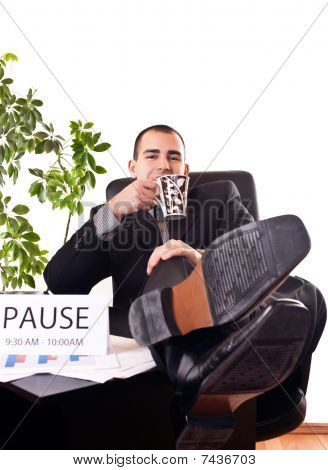 Businessman On Pause