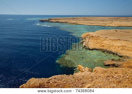 Red Sea coast in the Ras Muhammad National Park. Egypt