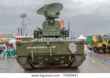 Back of antiaircraft gun missile system Tunguska