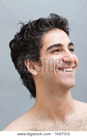 Headshot Of A Smiling Happy Male