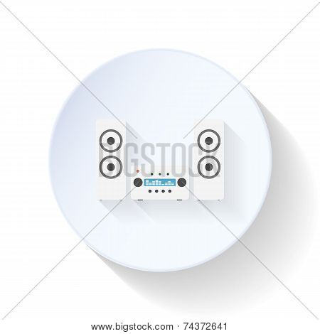Music System Flat Icon