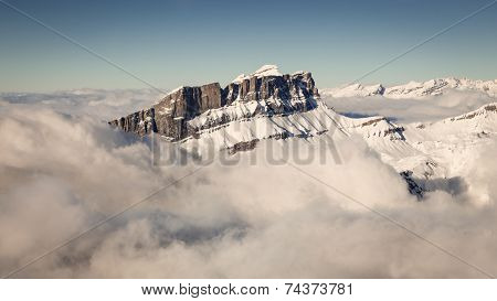French Mountain Alps Aerial View