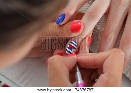 Beauty Treatment Of Fingernails