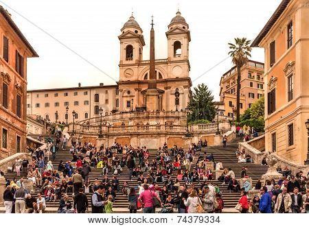 The Spanish Steps in Rom, Italy