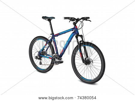 mountain blue red bike