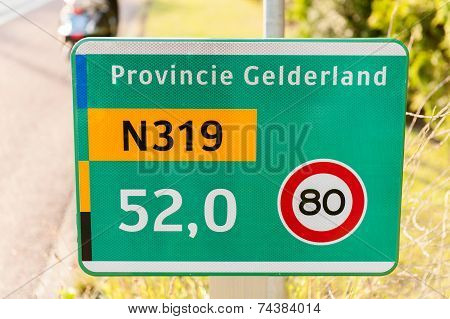 Traffic Sign On A Provincial Road